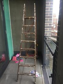 Shabby chic ladder project home or wedding