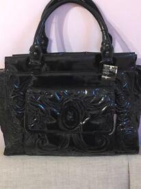 Ladies new black patent bag