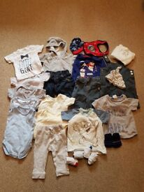 3-6 MTH OLD BABY CLOTHES BUNDLE