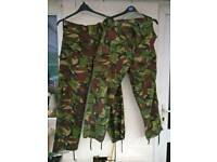 British Military trousers combat tropical woodland dpm
