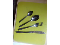 Set stainless steel cutlery with soft edges. Vey good condition