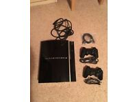 PS3 40gb Console plus 2 controllers and all cables