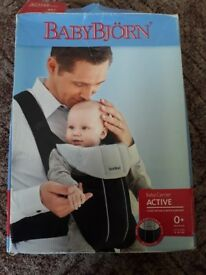 Black And Grey Baby Bjorn Baby Carrier 0+ 8-26LBS (3.5-12kg)