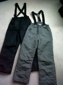 SALOPETTES - FIT CHILD AGE 9-10YRS - BLACK OR GREY AVAILABLE £5 EACH