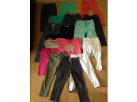 Collection of girls casual bottoms 3-4 years (22 items), mostly M&S clothes