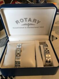 Rotary watch and bracelet set