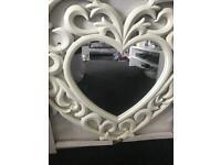 Ornate heart mirror