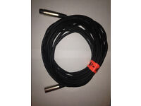 Balanced MaleXLR to female XLR cable for Microphone or studio instrument