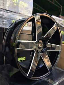 NEW GLOSS BLACK MILLED 24 INCH 6 BOLT RIMS FOR $2590 WITH TIRES!!