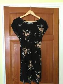 Ladies Apricot floral dress