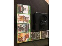 Xbox 360 with games and headset and leads but no memory pack