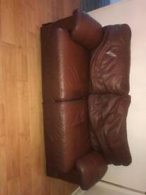 1 leather sofa bed