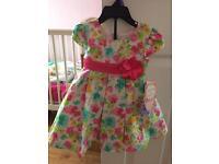 NEW designer floral 2 piece dress 12months