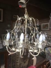 8 arm shabby chic chandelier