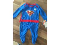 New Superman Baby Grow Outfit 0-3 Months