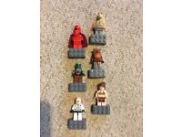Lego Star Wars character magnets x 6