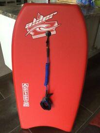 Alder Assassin PE bodyboard and tele leash