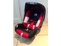 Britax Romer car seat with ISOFIX base