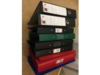 A4 Files/ Folders - 8 x Ring Binders and 2 x Lever Arch Files - Many Brand New