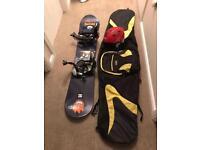 140cm Heli Snowboard with bindings, helmet and bag