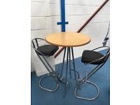 Bar table and 2 bar stools