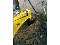 Jcb Digger hire with driver 150 a day excavator with operator all London
