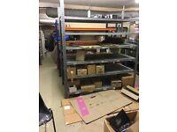 Heavy Duty Storage Shelves - Good Condition