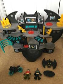 Imaginext Batcave with figures