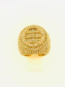 10kt Yellow Gold Mens Diamond Ring 5.75ct