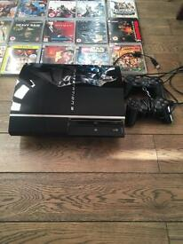 PlayStation 3 console with 25 games