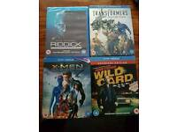 4 Blu Ray Movies Unopened/Sealed