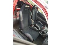Recaro Millenium Bucket Seats On Genuine DC2 Integra Rails Civic Honda