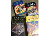 X4 Harry Potter First Editions £5