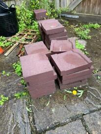 Storage bricks for builders rubble