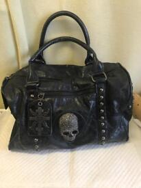 Thomas Wylde . Leather Biker Handbag. Vintage .