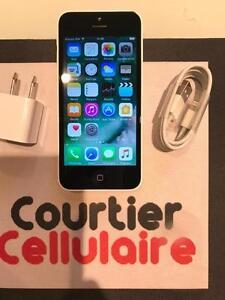 ***NOUVEAUTÉ*** iPhone 5c 16gb blanc Telus/Koodo