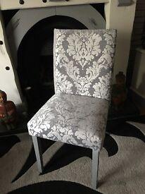 Crushed Velvet Damask Bedroom Chair