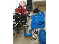 Bugaboo bee plus bright blue bundle
