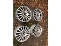 "4 x Ford Mondeo ST 18"" Alloy Wheels with Centre Caps"