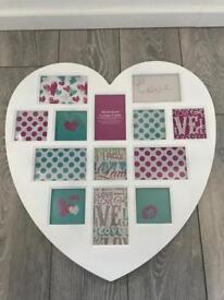 heart shaped photo frame