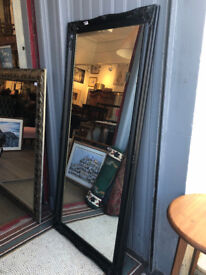 Mirror with Black Ornate Frame - Free Local Delivery