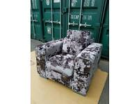 BRAND NEW Bouvier Crushed Velvet Armchair RRP £539 DELIVERY AVAILABLE