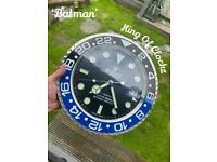Rolex wall clock - 'batman' GMT - trusted longterm seller