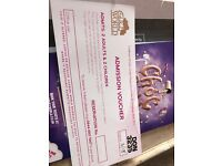Family ticket for Cadbury world (2adults+2children)