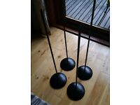Kef Coda speaker stands * 4 and black in colour