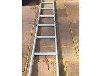 Camper, caravan, boat folding ladder