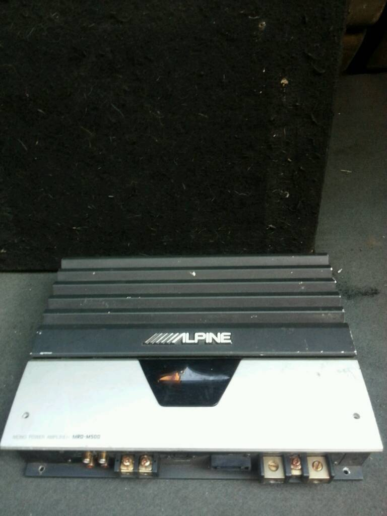 Alpine V12 sub Amp with power cap
