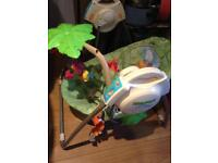 Fisher price rainforest baby swing chair bouncer take-along
