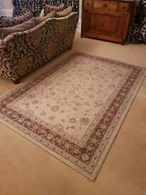 Large pure wool patterned rug