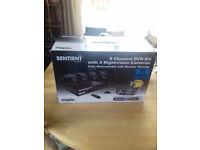 Sentient 8 channel DVR CCTV kit + 4 night vision cameras + Networkable